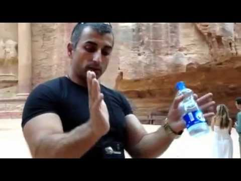 Our Jordanian guide Edi explains about the legend of Isis