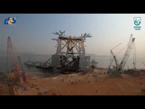 The Jacket Afcons Project at Rohini Yard by DAS Offshore Engineering