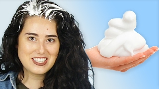 Women Try Dry Shampoo Foam