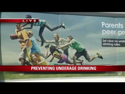 Garbage truck billboard campaign discourages underage drinking