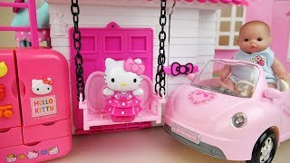 Baixar Baby doll and Hello kitty house and kitchen toys play
