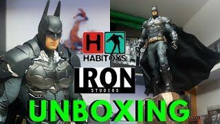 Batman Arkham Con Gargola! 1/10 IRON STUDIOS! Unboxing en Español Habi Toys