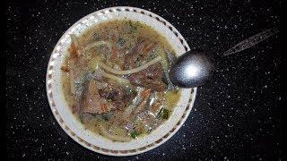 Суп лапша с гусём. Очень вкусный супчик.