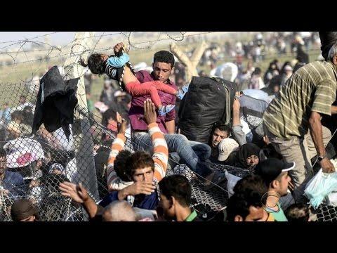 Syrian refugees return home after desperate escape