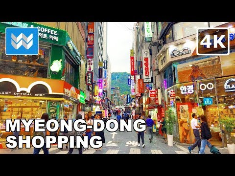 Walking around Myeong-dong (명동) in Seoul, South Korea Travel Guide【4K】 🇰🇷