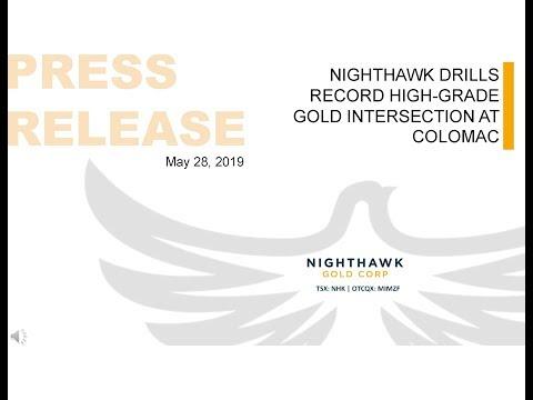 Nighthawk Gold Corp--Nighthawk drills record high-grade gold int