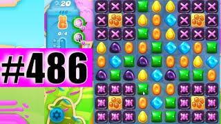 Candy Crush Soda Saga Level 486 NEW | Complete!
