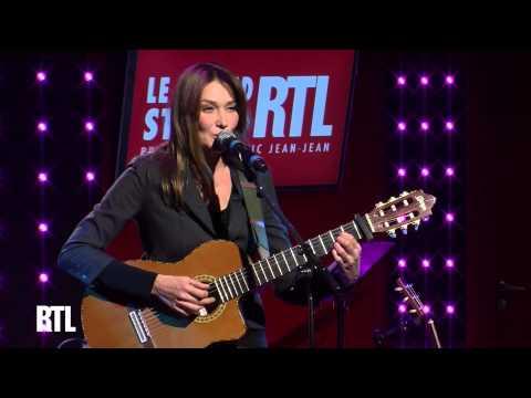 Carla Bruni - Quelqu'un m'a dit en live dans le Grand Studio RTL - RTL - RTL