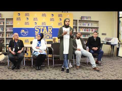 Bilqis Abdul-Qaadir Addresses NHS and Student Government at Star International Academy 4-18-19