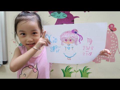 Hướng dẫn cách vẽ chibi 12 cung hoàng đạo | Cung Xử Nữ| bé CIU vẽ Chibi cung Xử Nữ dễ thương nhất
