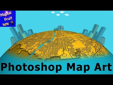 Photoshop Map Art Basic Map with Tilemill and Mapzen
