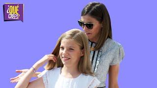 La infanta Sofia le dio un manotazo a la reina Letizia y arrasó las redes | Qué Crees