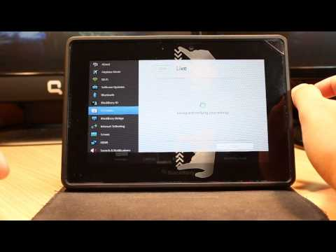 Live, Yahoo, Gmail Account Add To Blackberry Playbook