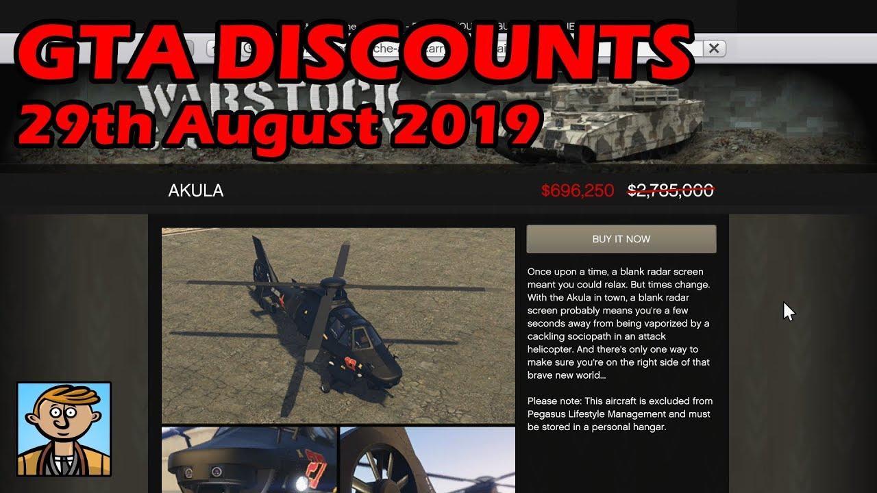 GTA Online Best Vehicle Discounts (29th August 2019) - GTA 5 Weekly Car Sales Guide #5
