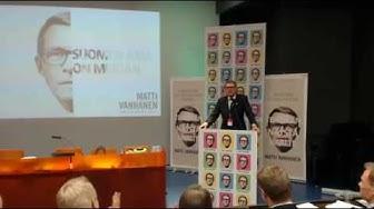 Presidenttiehdokas Matti Vanhanen - Suomen asia on meidän