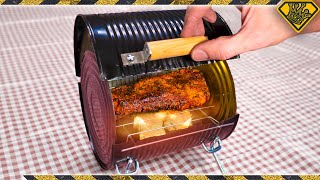 Turn A Large Can Into A BBQ (The Not So Bitty-Q)