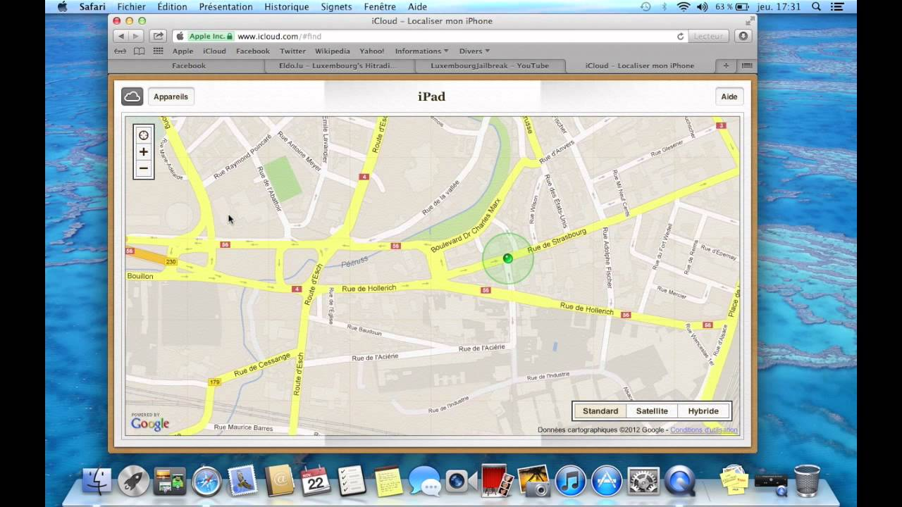 Localiser Iphone Icloud