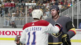 NHL 18 Montreal Canadiens vs Las Vegas Golden Knights