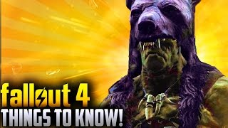 Fallout 4 Far Harbor DLC - 4 THINGS YOU MAY NOT KNOW Secrets,Recipes,Buying Wolves More
