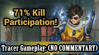 Video Overwatch: 71% Kill Participation! Tracer Gameplay (NO COMMENTARY) (1080HD 60FPS) download MP3, 3GP, MP4, WEBM, AVI, FLV April 2018