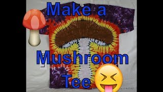 DIY How to Tie Dye a Mushroom Tee