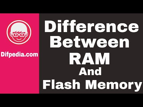 Difference between RAM and Flash Memory