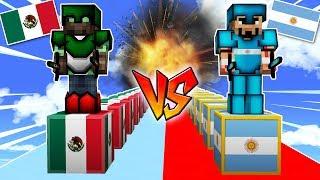 ¡BATALLA LUCKY BLOCKS MEXICO VS LUCKY BLOCKS ARGENTINA!😱💥 LUCKY BLOCKS MINECRAFT MOD