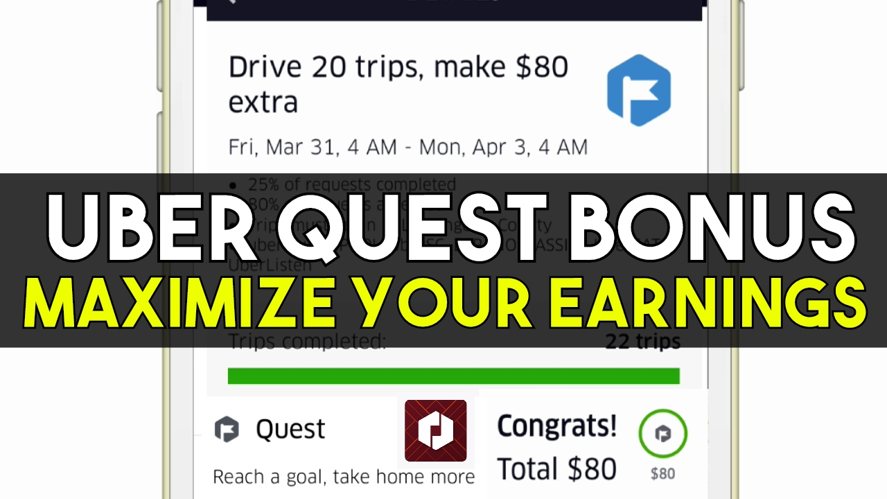 uber quest weekly bonus incentive how to maximize your driver