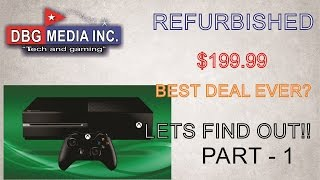 Unboxing video review of a new refurbished xbox one, save money now!!!