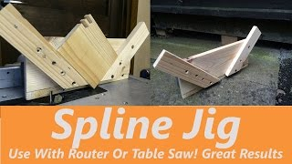 In this video I will be making this wooden Spline Jig. In this example I am using it on a router however you could adapt the concept to
