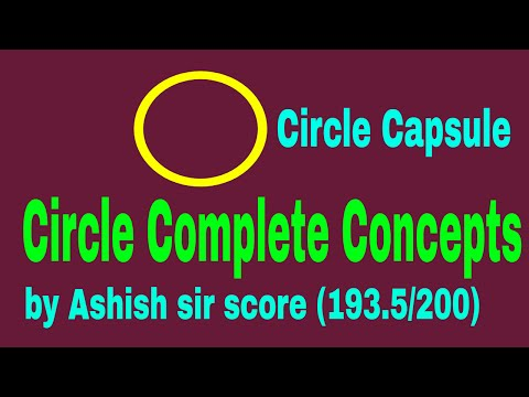 GEOMETRY CIRCLE (ALL CONCEPTS IN 1 VIDEO) FOR SSC II BANK II UPSC II CAT II MAT II  ALL GOVT EXAMS