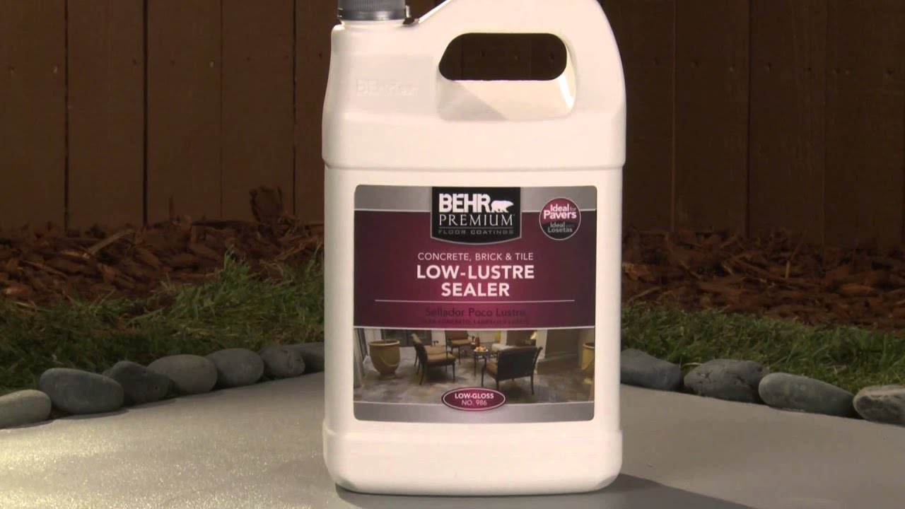 HowTo Apply Behr Premium LowLustre Sealer YouTube - Behr premium wet look sealer reviews