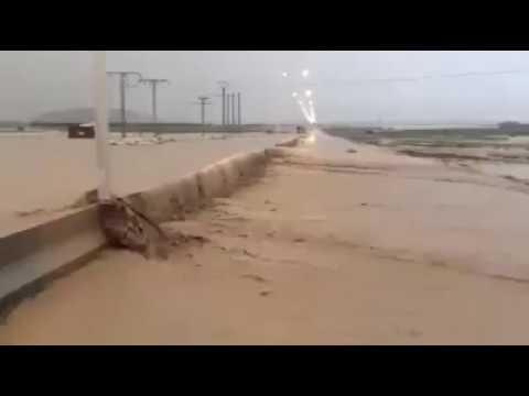 بالفيديو : فياضانات عارمة ..تجتاح هذه المناطق