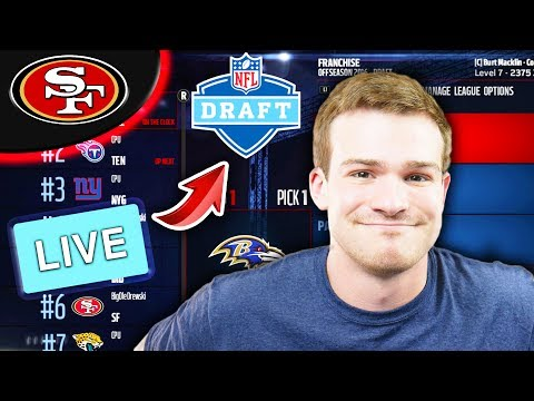 LIVE DRAFT AND FULL OFFSEASON! Madden 17 49ers Connected Franchise Ep. 18