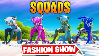 *SQUADS* Fortnite Fashion Show! FÏRE Skin Competition! Best COMBO WINS!