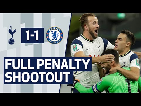 SPURS 1-1 CHELSEA   FULL PENALTY SHOOTOUT   Dier, Lamela, Højbjerg, Lucas & Kane all score!