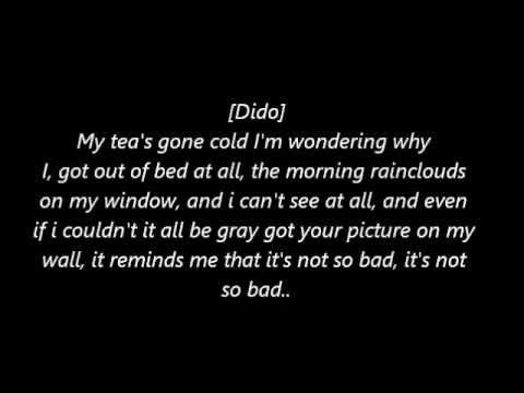 Eminem Ft. Dido - Stan Lyrics [HQ Sound]