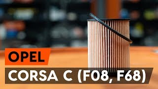 Montaje Filtro de Aceite OPEL CORSA C (F08, F68): vídeo gratis