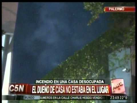 C5N - SOCIEDAD: INCENDIO EN UNA CASA DESOCUPADA