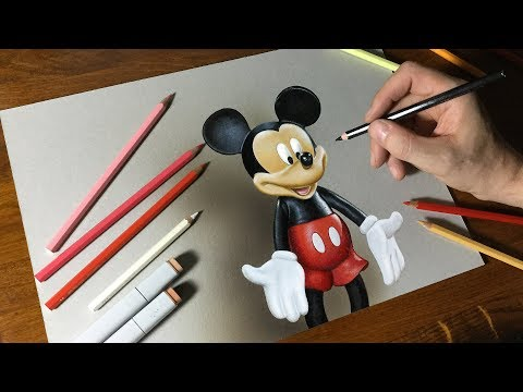 drawing-mickey-mouse-|-how-to-draw-3d-art