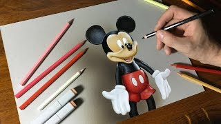 Drawing Mickey Mouse | How to draw 3D Art