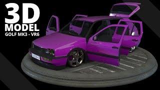 VW Golf MK3 VR6 -- 3D Model | Tlatso-Son