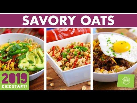 SAVORY Oatmeal Recipes + Free eBook! #kickstart2019