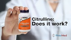 Citrulline: Does it work? Uses for NO, ED, Athletics