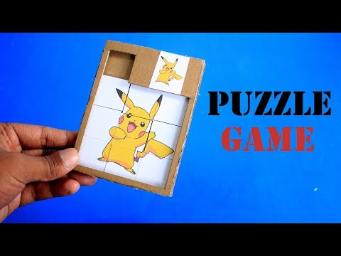 How To Make a  PAPER GAME - DIY Puzzle Game From Cardboard