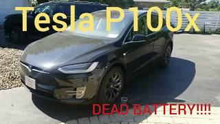 How to Open Tesla Model X in case Dead battery !!!
