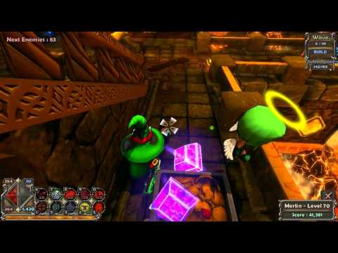 Dungeon Defenders- Solo Farming / Power leveling Guide-Glitterhelm Caverns Hard