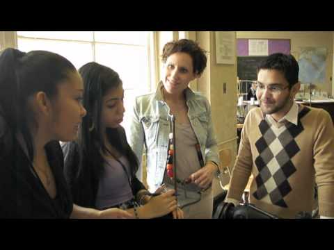 Michelle Alves Visits Students of The HIgh School of Fashion in New York City for Allegri