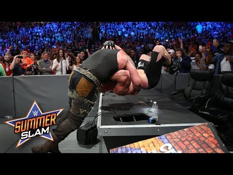 Braun Strowman manhandles Brock Lesnar in unprecedented fashion: SummerSlam 2017 (WWE Network)