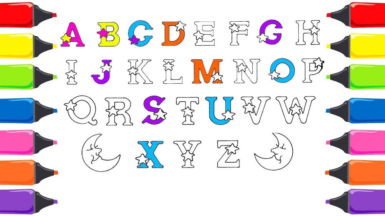 Alfabeyi öğreniyorum Abc şarkısı Abc Boyama Renkleri öğreniyorum
